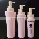 elegant pink plastic shampoo bottle, cosmetic plastic bottle, plastic bottle for cosmetic packaging