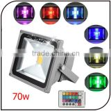 Outdoor 70w high power IP65 stainless steel power light floodlight RGB 70w led flood light