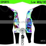(Trade Assurance)High quality long sleeves men rash guard/compression top/compression wear