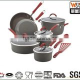 12-Pcs Non-stick Cookware Set with gray non-stick coating