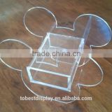 innovative clear wholesale mickey shaped acrylic jewelry box,transparent acrylic box,acrylic makeup box manufacturer
