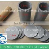 Metallic porous powder sintered filter element