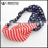 Wentou Hot Selling American Flag Head Band USA Hair Band