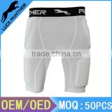 China Factory Compression Padded Short For American Football Rugby