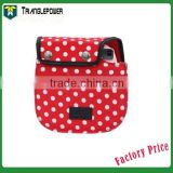 Fujifilm Instax Camera Bag, Polaroid Mini8 Cloth Camera Bag Mini 8 Camera Case White Dot (Red)
