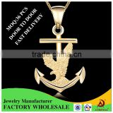 ATHENAA Anchor Shape Metal Charm Pendant Simple Gold Design Alibaba Jewelry