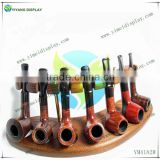 New Tobacco Pipes Rack Stand FOR 7 PIPES, Hold Case Display Wood Pipe Rack YM4183W                                                                         Quality Choice