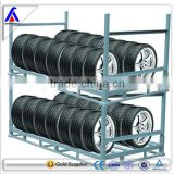 warehouse mobile heavy duty truck tire storage post rack basket factory manufacturor