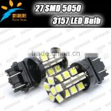 2pcs/lot 30SMD 5050 led 3157 P27-7W led brake light, Dual Intensity Tower 3157 led Car Light Bulb Lamp parking car light source