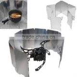 Foldable Aluminum Plates BBQ Stove Wind Shield / Plates Wind Screen / aluminum heat shield
