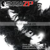 Leading Supplier CHINAZP Wholesale 80 Gram Weight in Stock Dyed Black Turkey Chandelle Feathers Boas