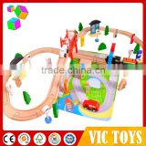 2015 newest wooden toy railway train set with factory price