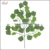 2016 hot sale decorative artificial leaves ginkgo leaf home decoration