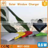 Factory patent design window port solar cell phone charger, waterproof mobile solar charger