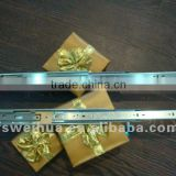 45mm width 3 ball bearing buffering soft close telescopic drawer channel with full extension