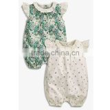 Printed OEM plus size baby clothes romper