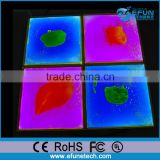 vinyl glow liquid dance tile for disco/party/nightclub,decorative liquid led pvc floor tile