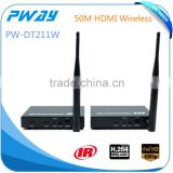 1080p H.264 mini hdmi wireless extender transmitter with IR support loopout for wireless security cameras