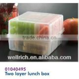 Two layer lunch box 01040495 zojirushi lunch box electric lunch box 2 multi-functional electric lunch box