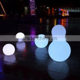 outdoor modern battery operated funky rainbow color cordless USB rechargeable park or home LED ball decor lights