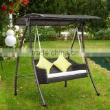 2016 Rattan Swing Chair Garden Patio Swinging Hammock Bench Seat Bed Lounger 3 Seater