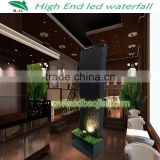 Decorative indoor artificial waterfall fountain, indoor jumping jet water fountain