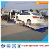 4x2 Dongfeng diesel 120HP full landing flatbed tow truck wrecker