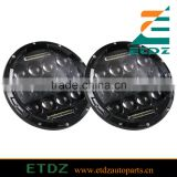 2PCS 7 Inch 75W High Beam 35W Low Beam Phillips LED Headlight with DRL For Jeep Hummer FJ