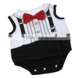 "Fashion Boy's ""gentleman"" Baby Suit Bodysuit Wholesale Childrens Clothing Set For Cool Baby"