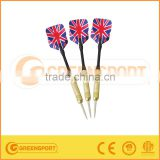 High quality and safety Steel Needle Tip Dart Darts with National Flag