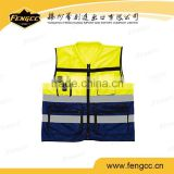 2016 hot sale promotion HI-VIS traffic vest police safety reflective vest with pocket