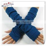 Fingerless long sleeve knitted gloves acrylic