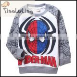 kids hip hop clothing for spider man fleece jacket kids cartoon fleece Jackets