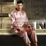 Imitation Silk Men Winter Pajama Set different size for choice Solid more colors for choice 59347