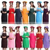 12sx300d MJS spun polyester apron bib apron adjustable strap apron kitchen apron garden apron Kitchen Baking Chef Bib Apron