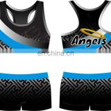 Adult cheer dance practice cheerleading sports bra and shorts uniform sets sublimation design