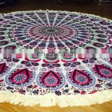 Indian printed tapestry wholesale mandala Yoga Screen Printed Tapestry Indian fabric Cotton tapestry