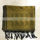 Beautiful ethnic vintage styled Banarasi silk stole/neck-head wrap/dupatta perfectly traditional ethnic women neck scarves