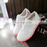 Fashionable Large Size USB Rechargeable OEM High quality PU leather sneakers LED Shoes