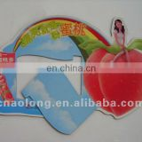 high quality die cut customized printed logo coated paper soft magnet fridge magnet,refrigerator magnet