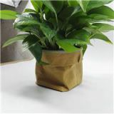 Organiser Bag Plant Pot 10x10x20cm Stylish Washable Creative Kraft Paper Bag