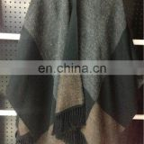 Damier winter acrylic poncho shawl&kick pleat scarf big scarf, wool shawl polyester scarf