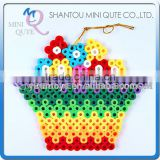 Mini Qute Kawaii DIY plastic Ironing Hama Perler Beans 3D Jigsaw flower basket building blocks educational toy (Accept OEM)