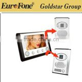 "2013 7"" LCD video door phone 2 outdoor main stations+ 1 indoor unit"