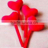 Plush 20cm Tall Red Heart Bookmark/Soft 20cm High Bookmark with Stuffed Red Heart/Heart Shaped Bookmark