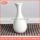 wholesale white porcelain wine bottle, ceramic milk jar, flower bottle pot accept custom design decal printing