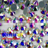 Tornaszol rainbow crystal AB Hot fix strass, iron-on strass,korean hotfix strass SGS tested lead free nickel free