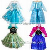 china wholesale frozen elsa costumes for girls frozen kids party dress for children 100-160cm