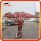 Amazing walking with dinosaur costume for adults