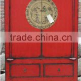 Chinese antique red wedding shanxi wardrobe cabinet